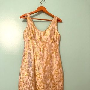 Kate Spade gold flower shift dress